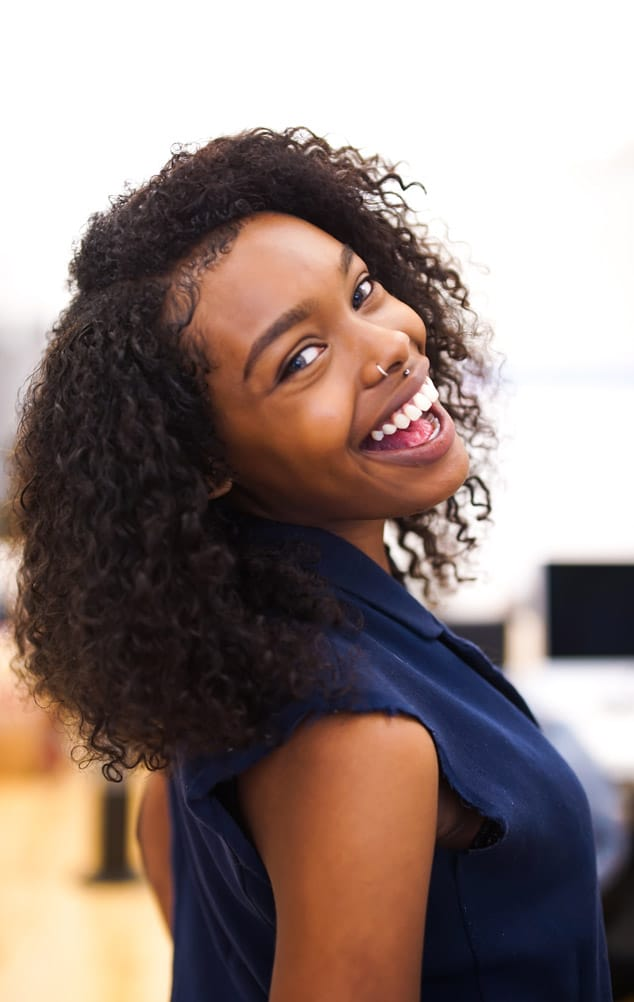 Happy woman with a beautiful smile